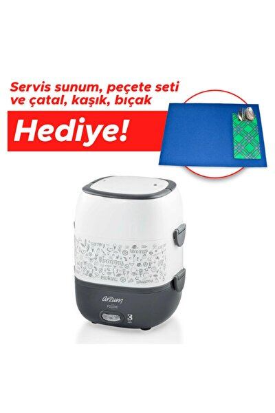 Ar1073 Foodie Elektrikli Modern Sefer Tası - Beyaz - Hediyeli