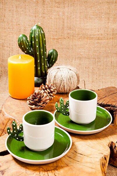 Homemade Cactus N Love 2 Kişilik Kahve Fincanı