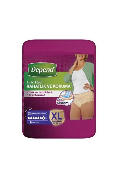 Xl Beden Kadın Emici Külot 9 Lu (Bel Ölüçüsü 120-150 Cm) Yeni
