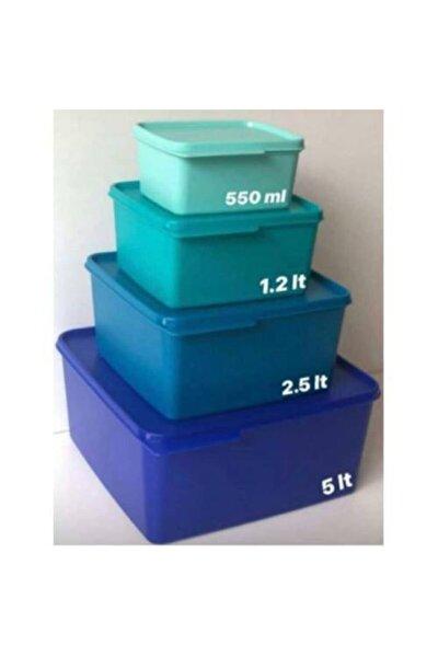 Renkli Dörtgen Saklama Seti (modüler Set Sıkı Kapak)