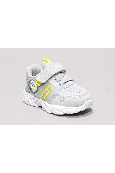 Erkek Bebek Gri Bantlı Spor Ayakkabı