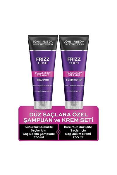 Düz Saçlara Özel Şampuan & Krem Set