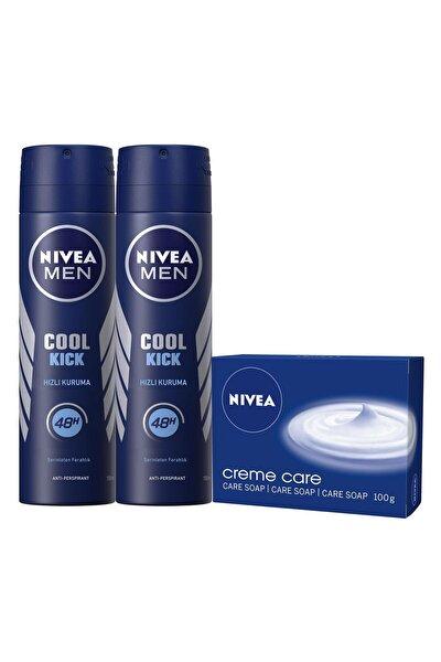 Cool Kıck Sprey Deodorant 150ml Erkek 2'li Crème Care Sabun