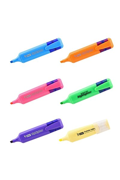 Fosforlu Kalem Canlı Renk 6 Lı