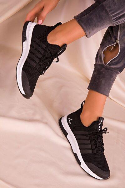 Siyah Kadın Sneaker 16019