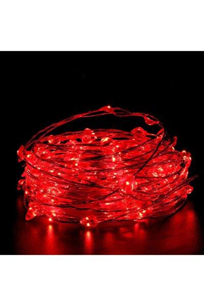 Peri Led 10 Metre Pilli Kırmızı Renk Dekoratif Aydınlatma