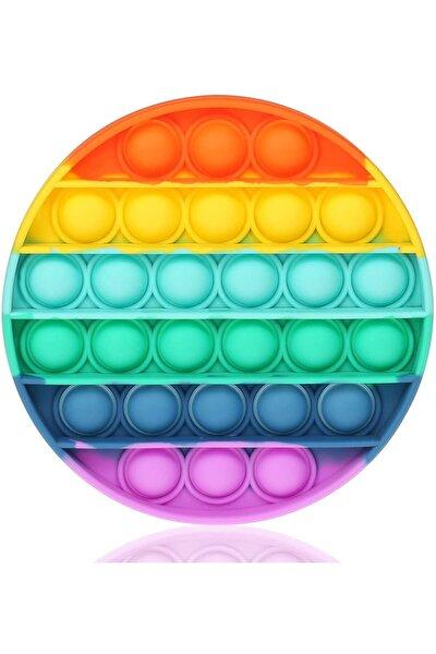 Push Bubble Fidget Özel Pop Duyusal Oyuncak Zihinsel Stres Yuvarlak Renkli