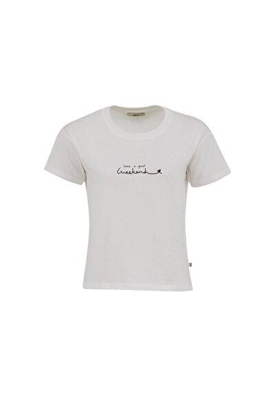 Kadın BEYAZ T-SHIRT  012218014660890000