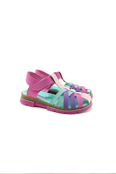 Filet Kız Çocuk Sandalet Pembe-yeşil
