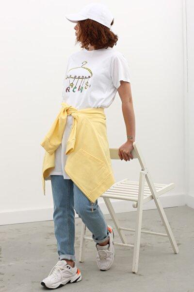 Kadın Kısa Kollu Baskılı T-shirt