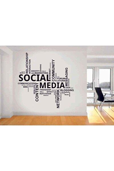 Social Media Duvar Sticker