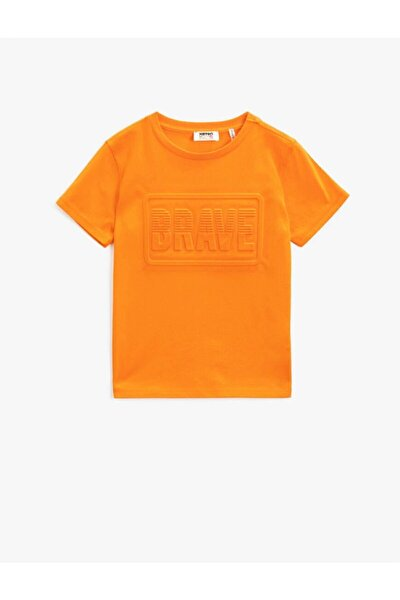 Koton Erkek Çocuk T-shirt Turuncu