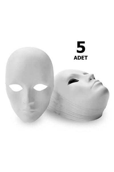 5 Adet, Karton Maske, Boyanabilir, Eğitici Maske Boyama, Etkinlik Ve Hobi Maskesi