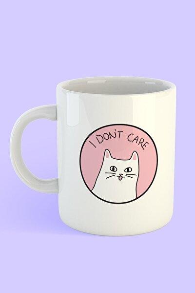 Kedi I Don't Care Detaylı Kupa