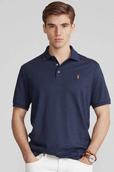 Erkek Lacivert Custom Slim Fit Polo Yaka T-shirt