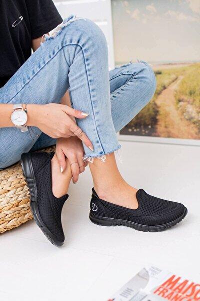 Kadın Siyah Memory Foam Yürüyüş Ayakkabısı