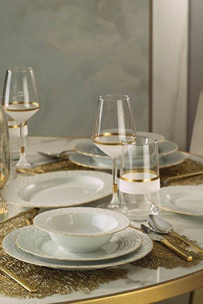 Başak Altın Fileli Yemek Takımı 51 Parça