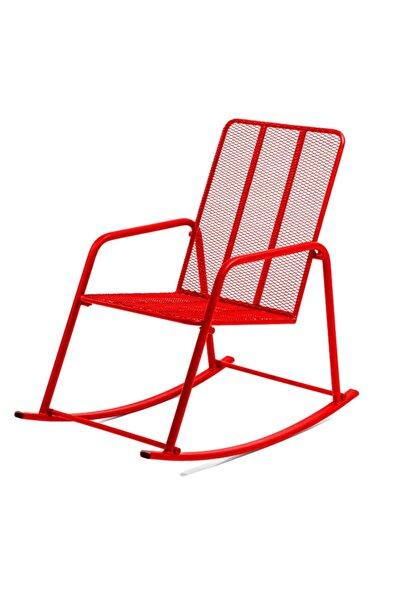 Kırmızı Metal Sallanan Sandalye