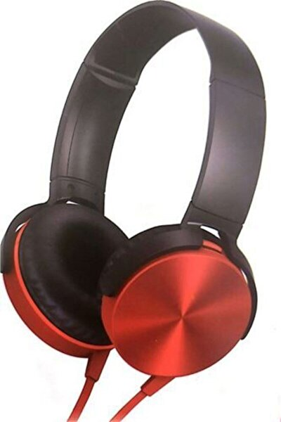 Extra Bass Kulaklık Yüksek Kalite Muhteşem Ses Mikrofonlu Oyuncu Gamer Stereo Kırmızı