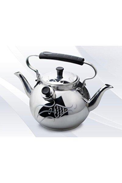 Alüminyum Lüks Kamp Çaydanlığı - Süzgeçli Demlik - Çift Taraflı Işlemeli Piknik Çaydanlık Seti 2,5 L
