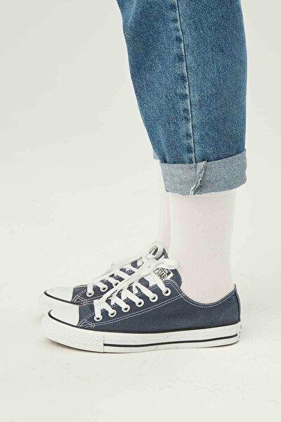 Düz Soket Çorap Beyaz