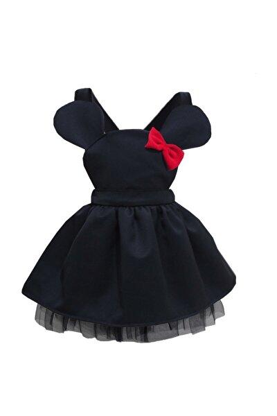 Kız Çocuk Elbise Siyah Sevimli Mini 1-4 Yaş