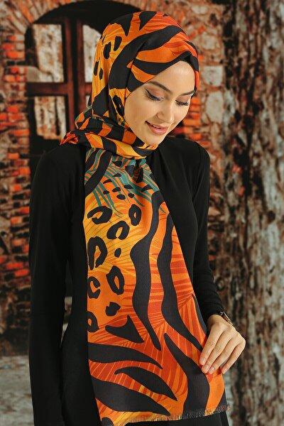 Kadın  Desenli Pamuk Şal - Tmeds-112