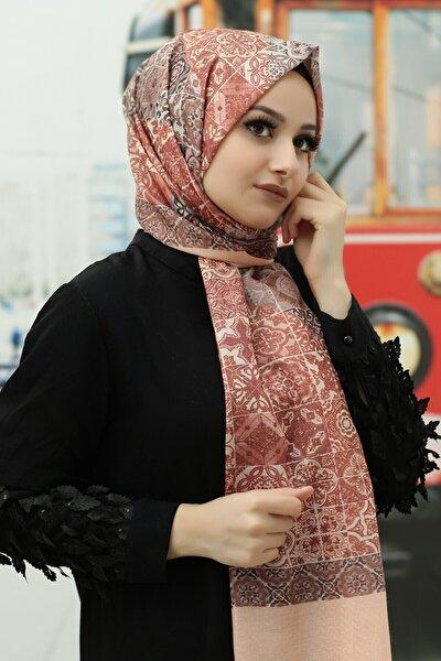 Kadın  Desenli Pamuk Şal - Tmeds-064