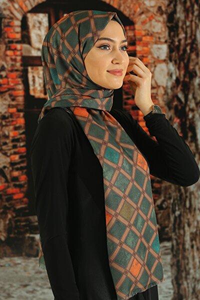 Kadın  Desenli Pamuk Şal - Tmeds-113
