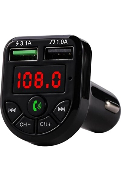 Car X8 Araç Fm Transmitter Çakmaklık Girişli Kablosuz Oto Müzik Çalar Kiti Bt/usb/mp3/sd Kart