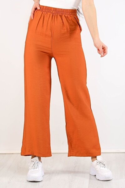 Kadın Ayrobin Salaş Pantolon Taba