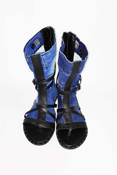 Kadın Deri denim Sandalet