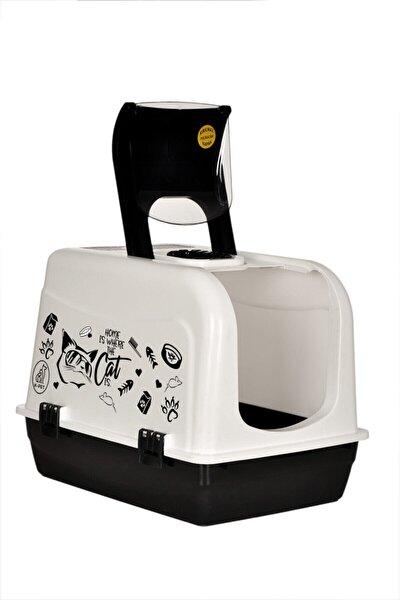 Xxl Büyük Boy Kapalı Kedi Tuvaleti ve Kürek