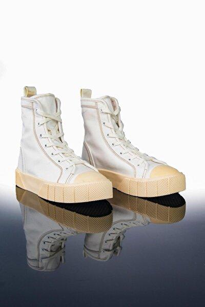Kadın Beyaz Yüksek Bilekli Spor Ayakkabı Ltn2021