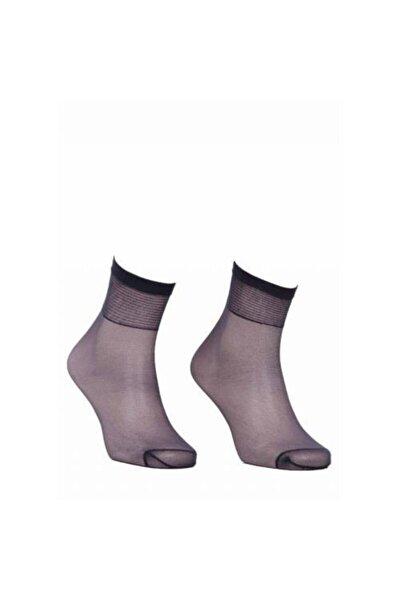 Süper Fit 15 Denye Soket Çorap 67 Füme 12 Çift