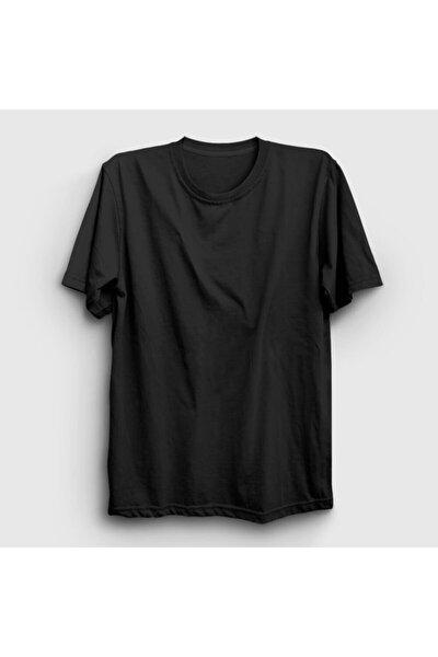 Unisex Siyah Düz Baskısız T-shirt 58781tt