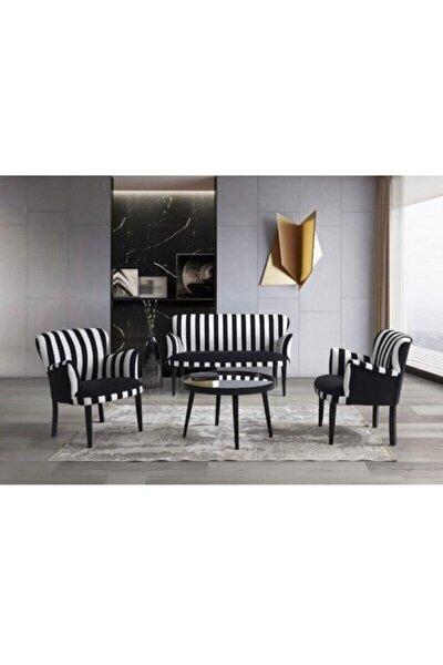 Trendy Home Çay Seti Koltuk Takımı 2+1+1 Zebra Model