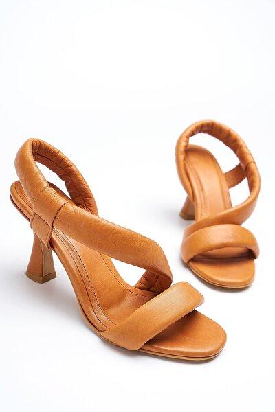 Kadın Kahverengi Hakiki Deri Sandalet