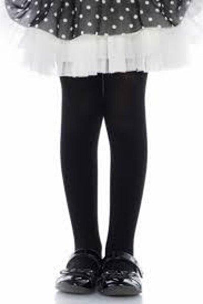Kız Çocuk Siyah Külotlu Çorap Micro 40