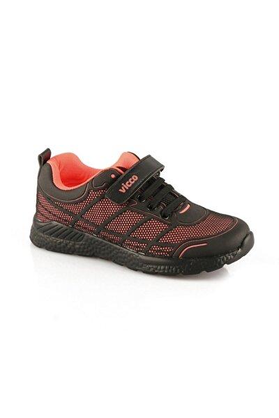 Kız Çocuk Siyah Pembe Filet Phylon Spor Ayakkabı
