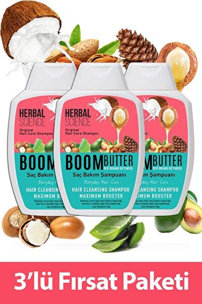 Boom Butter Saç Bakım Şampuanı Üçlü Fırsat Paketi