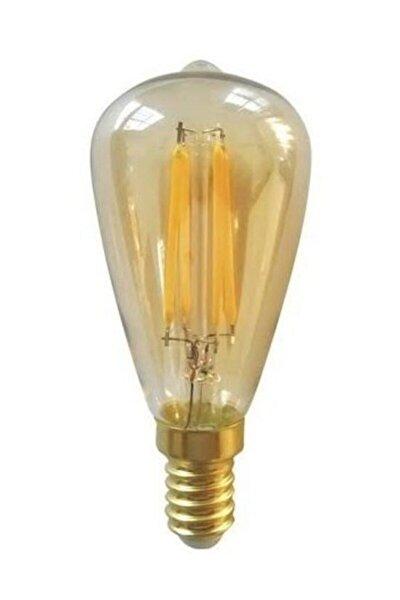 4 W E14 Duylu Rustik Led Ampul Ct-4299 - Amber Renk