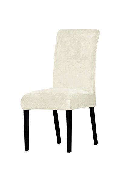 Krem Rengi Sandalye Kılıfı 6'lı