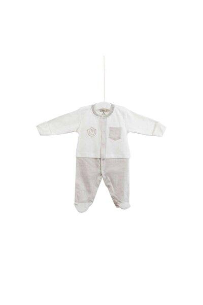 Erkek Bebek Ekru Tulum 0-6 Ay 6517