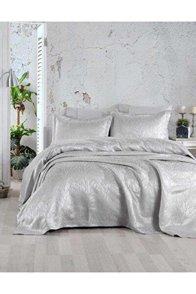 Gümüş Rengi Çift Kişilik Yatak Örtüsü