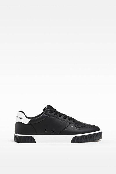 Erkek Siyah Kontrast Spor Ayakkabı 12401760
