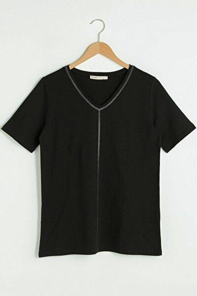 Kadın Yeni Siyah T-Shirt