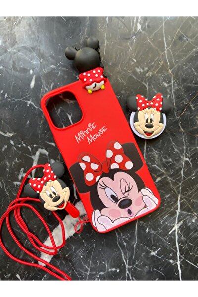 Iphone 12/12 Pro Uyumlu 6.1 Askılı Popsocket Mickey Mouse D. Accessory Kılıf