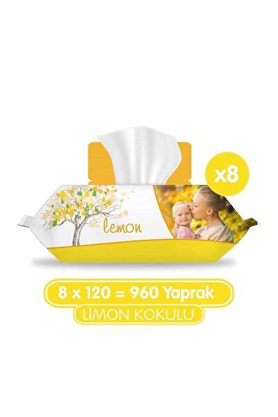 Limon Kokulu Islak Havlu 8x120
