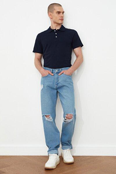 Mavi Erkek Destroylu Essential Fit Jeans TMNSS21JE0550
